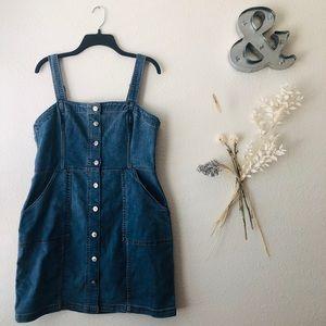 H&M • Denim dress w POCKETS! ✨